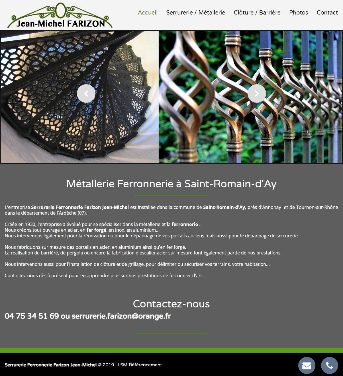 Ferronnier Dans Le Var ferronnerie saint vallier farizon jean-michel 9